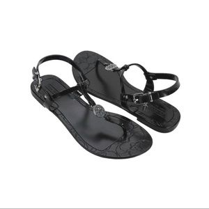 Coach | Black Jelly Pansy Sandals